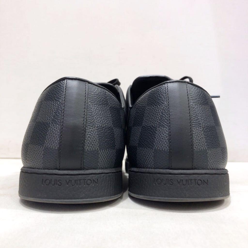 【LOUIS VUITTON】ローカットスニーカー ルイヴィトン ラインアップ ライン ダミエグラフィット レザー 靴 ブラック 黒 9 ts202109_画像5