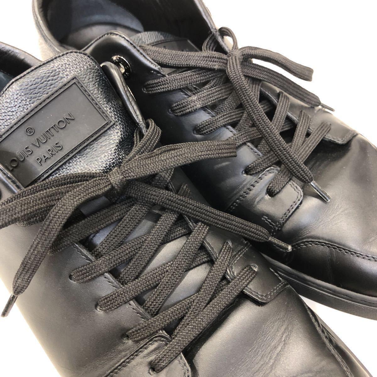 【LOUIS VUITTON】ローカットスニーカー ルイヴィトン ラインアップ ライン ダミエグラフィット レザー 靴 ブラック 黒 9 ts202109_画像9