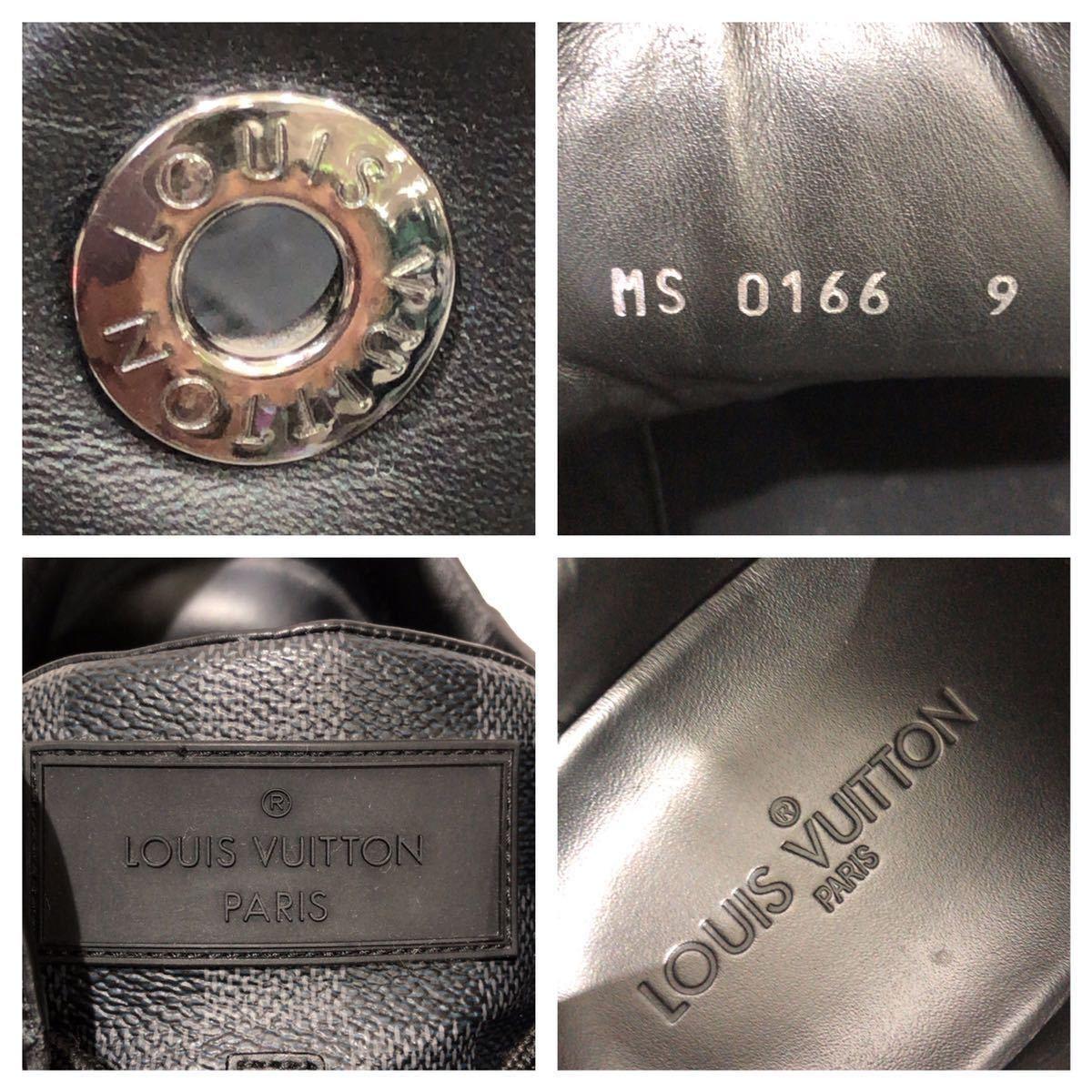 【LOUIS VUITTON】ローカットスニーカー ルイヴィトン ラインアップ ライン ダミエグラフィット レザー 靴 ブラック 黒 9 ts202109_画像6