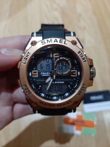 【1円スタート!】最落なし!海外人気ブランド SMAEL S-SHOCK stylish メンズ高品質腕時計 防水 アナログ&デジタル ライトブルー♪人気1_画像10