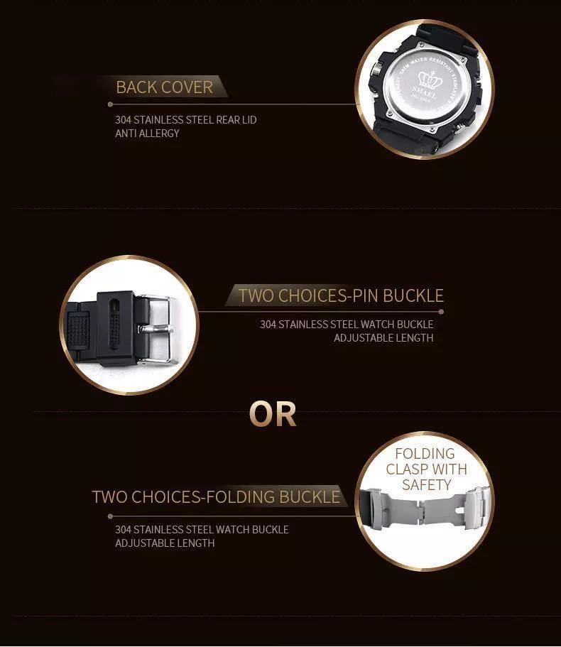 【1円スタート!】最落なし!海外人気ブランド SMAEL S-SHOCK stylish メンズ高品質腕時計 防水 アナログ&デジタル ライトブルー♪人気1_画像7