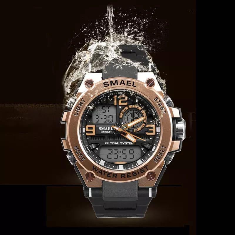 【1円スタート!】最落なし!海外人気ブランド SMAEL S-SHOCK stylish メンズ高品質腕時計 防水 アナログ&デジタル ライトブルー♪人気1_画像2