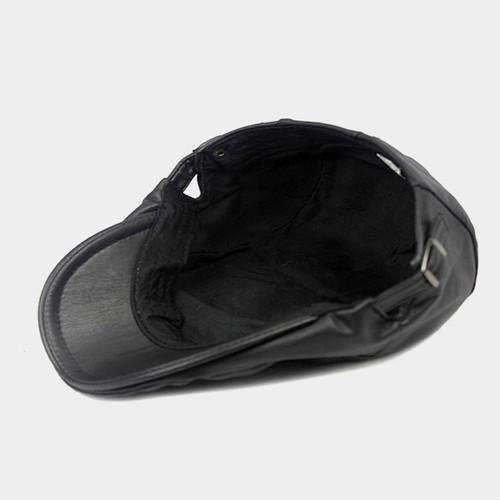 【新品】 黒 ハンチング帽 帽子 ベレー帽 旅行 ゴルフ 自転車 男女 散歩 出かけ 皮質 アウトドア キャスケット 55-60cm zwxa 077_画像5