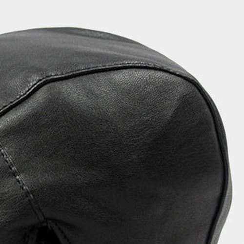 【新品】 黒 ハンチング帽 帽子 ベレー帽 旅行 ゴルフ 自転車 男女 散歩 出かけ 皮質 アウトドア キャスケット 55-60cm zwxa 077_画像4