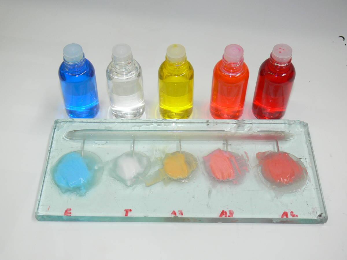 歯科技工 ミサキカラー7色セット  色分けの築盛(モザイクテクニック)ができる 7色のカラー築盛液 各38ml _画像2