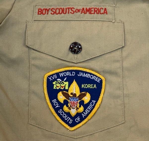 H4028 BOY SCOUTS OF AMERICA ボーイスカウトオブアメリカ BSA 半袖シャツ ボーイスカウトシャツ MADE IN USA ベージュ SM_画像4