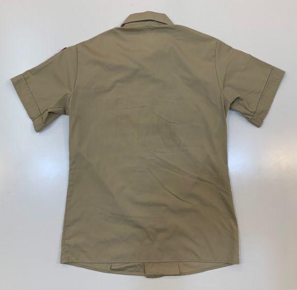 H4028 BOY SCOUTS OF AMERICA ボーイスカウトオブアメリカ BSA 半袖シャツ ボーイスカウトシャツ MADE IN USA ベージュ SM_画像2