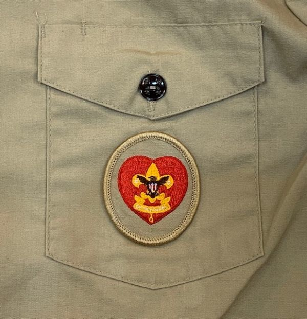 H4028 BOY SCOUTS OF AMERICA ボーイスカウトオブアメリカ BSA 半袖シャツ ボーイスカウトシャツ MADE IN USA ベージュ SM_画像5