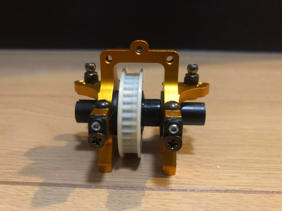 TA05用 ゴールドアルミバルクヘッド 中古