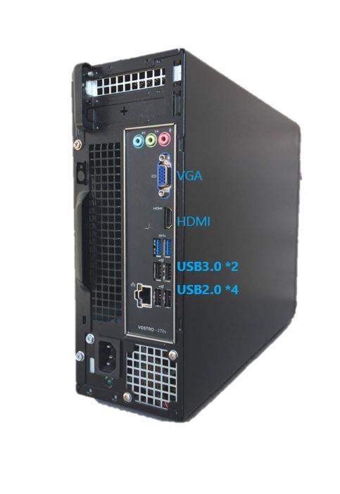 省スペース小型■Core i7-3770 3.9GHz x8/メモリ16GB■驚速SSD:960GB+HDD:3000GB Win10 Ms Office2019 無線LAN/USB3.0/HDMI■VOSTRO 270s-1_画像2