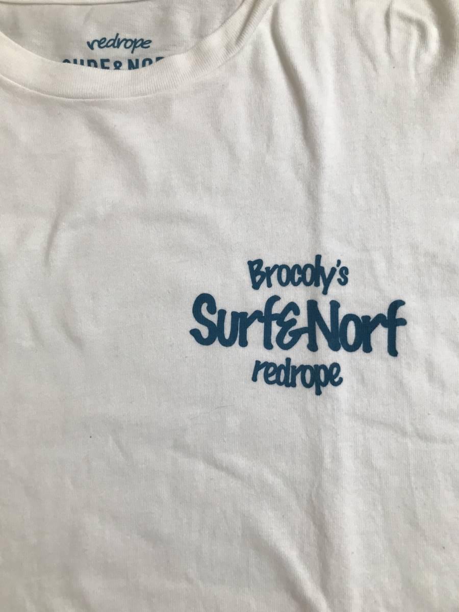 【ベイフロー×レッドロープ】surf &norfバックロゴ半袖クルーネック☆Lサイズ(4)_画像4