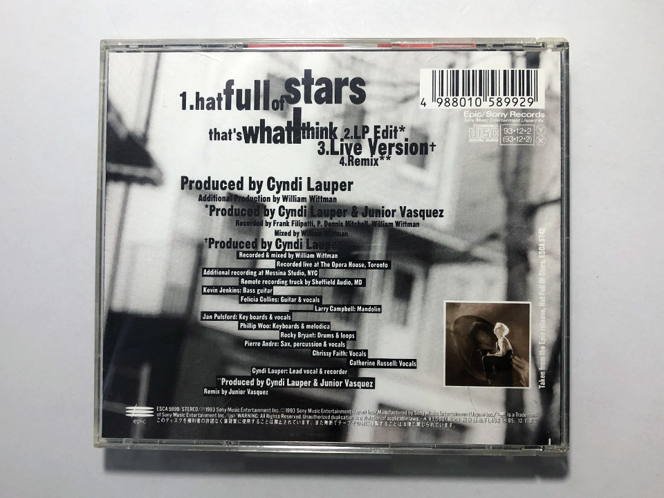 【CD】帯付 CYNDI LAUPER / HAT FULL OF STARS / シンディ ローパー / ハット・フル・オブ・スターズ 来日記念盤 [F1-3]