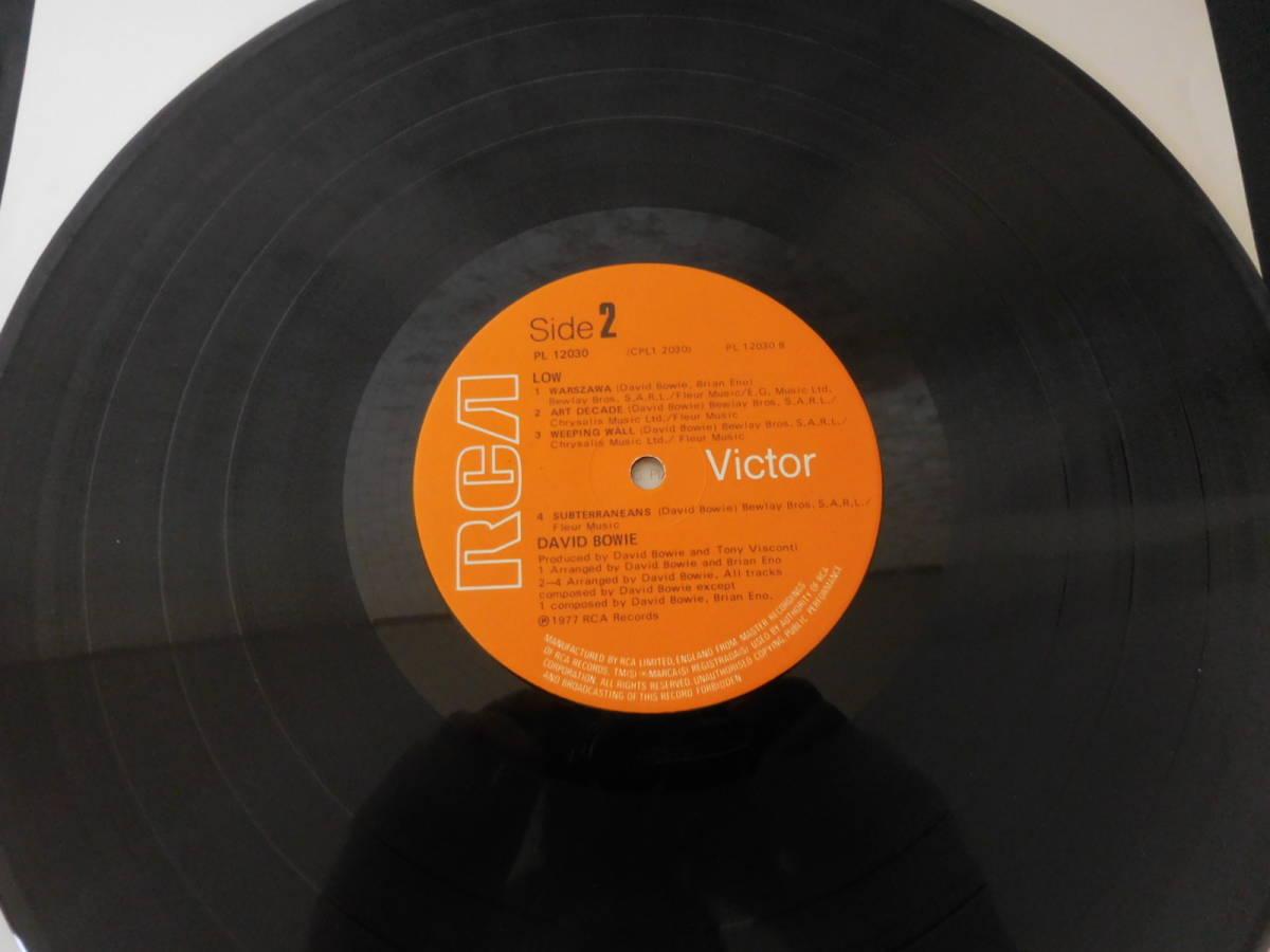 ボウイ DAVID BOWIE LOW 英国オリジナル・準美盤 レア・初回ステッカー曲目 A1B2!_画像5