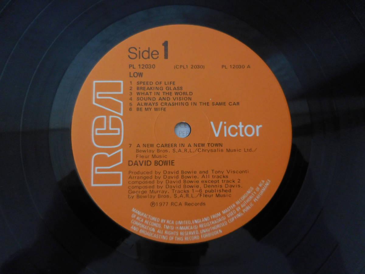 ボウイ DAVID BOWIE LOW 英国オリジナル・準美盤 レア・初回ステッカー曲目 A1B2!_画像2