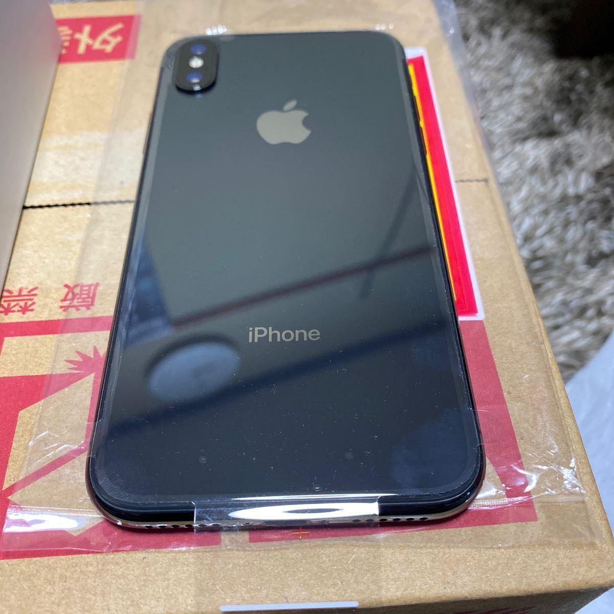 docomo iPhone x 256GB スペースグレイ SIMフリー SIMロック解除 補償サービス交換品_画像5