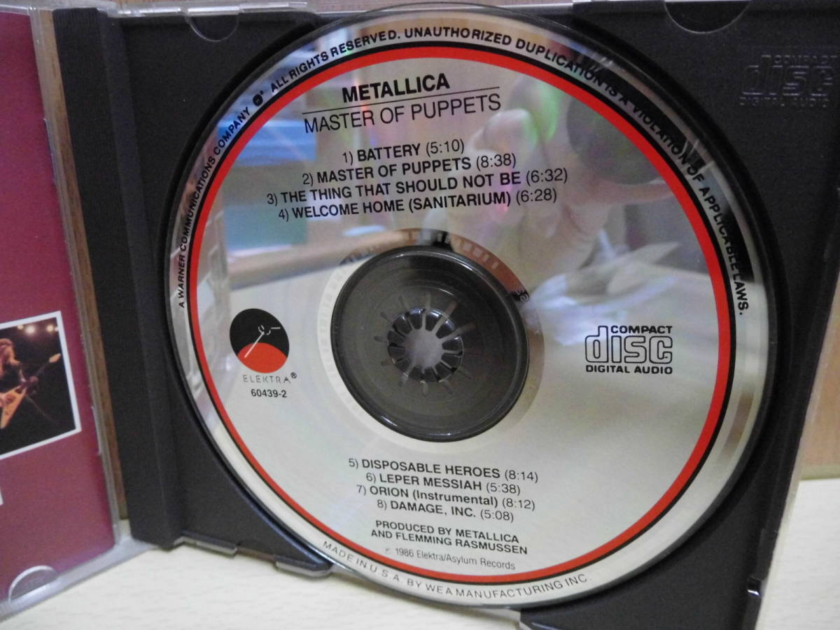 METALLICA /MASTER OF PUPPETS(輸入盤)9 60439-2_画像3
