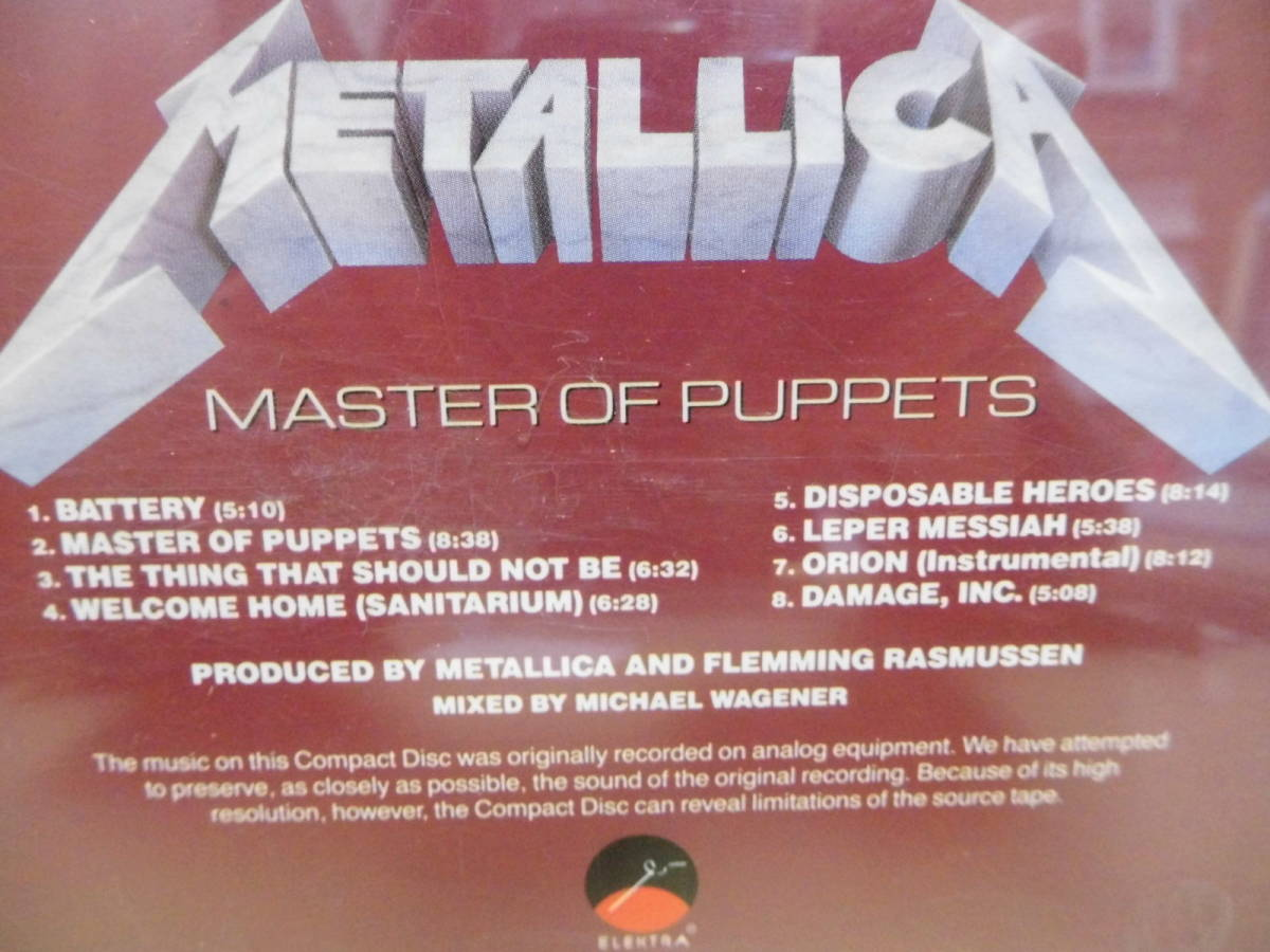 METALLICA /MASTER OF PUPPETS(輸入盤)9 60439-2_画像5