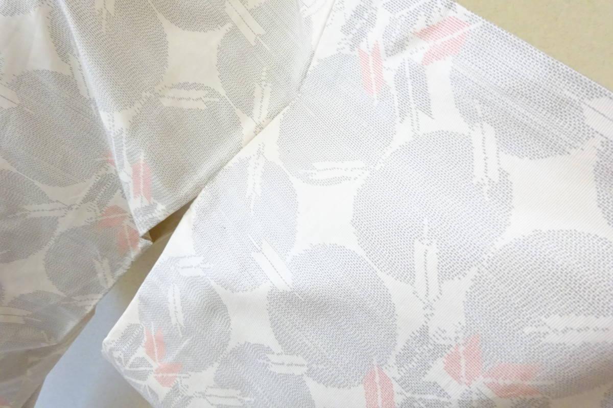 (4)着物 大島紬 白大島 矢模様 和服 和装_画像4