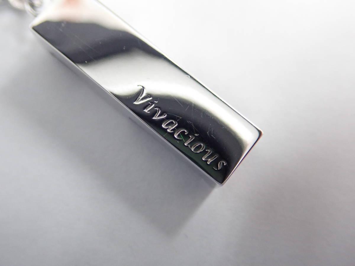 極美品 VIVACIOUS ビバシャス K18WG ホワイトゴールド 1Pダイヤ ネックレス オニキス D0.336ct トゥルースⅡ ネックレス 鑑定書付き _画像6