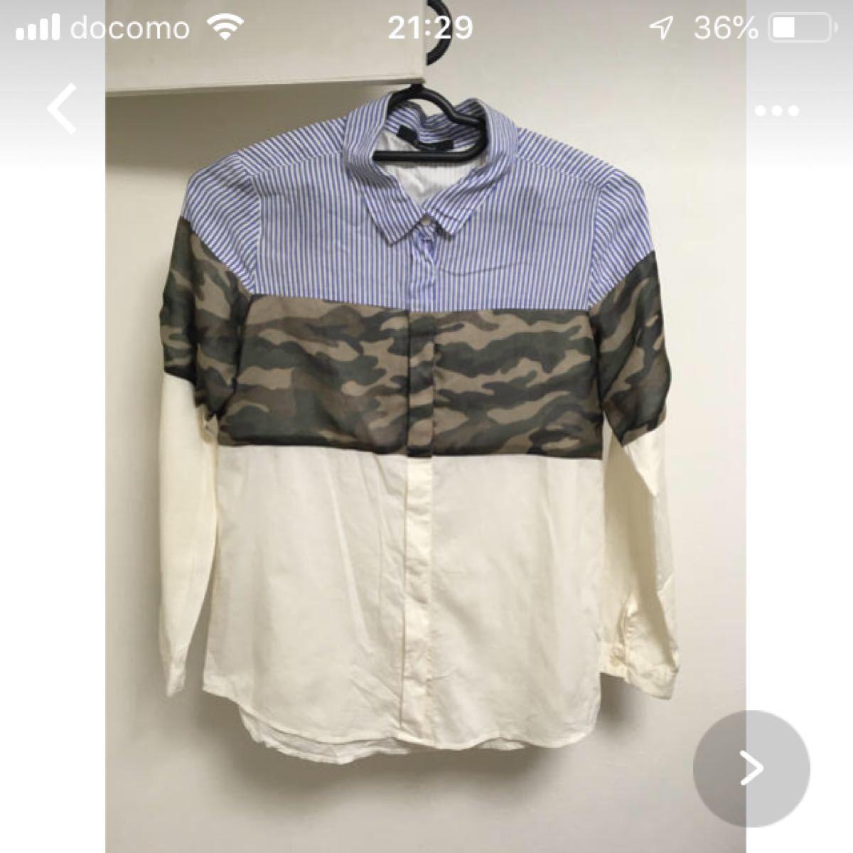 ジョンブル  パネルシャツ