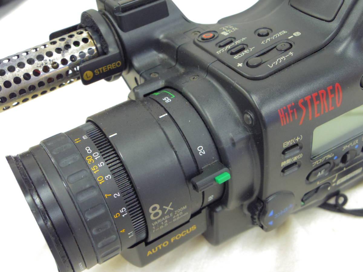 【KYOCERA】京セラ ビデオカメラレコーダーHi8 KD-H150 バッグ付 【ジャンク品】 _画像7