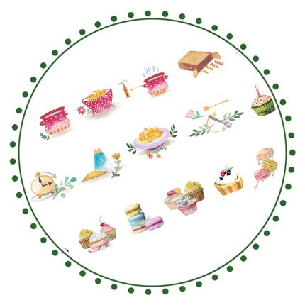 ★新品 可愛い マスキングテープ 20mm タルト デザート マカロン マステ★_画像3