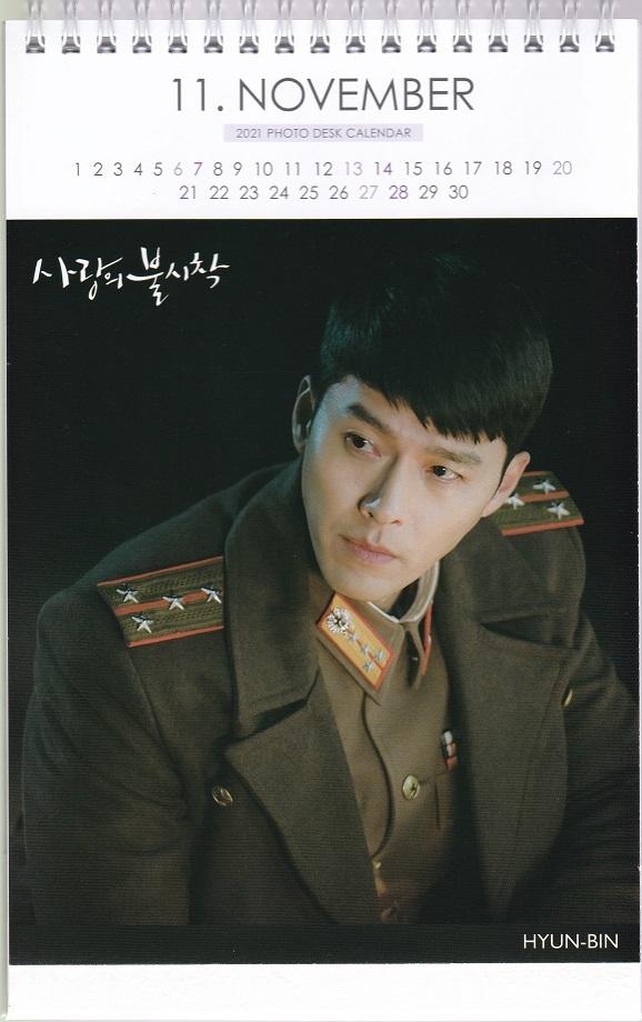 ☆New!■ヒョンビン/愛の不時着■2021-22年度ホワイト卓上カレンダー☆韓国_画像2