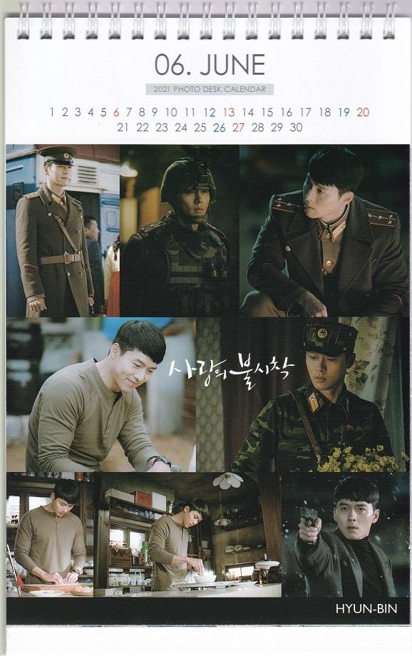 ☆New!■ヒョンビン/愛の不時着■2021-22年度ホワイト卓上カレンダー☆韓国_画像3