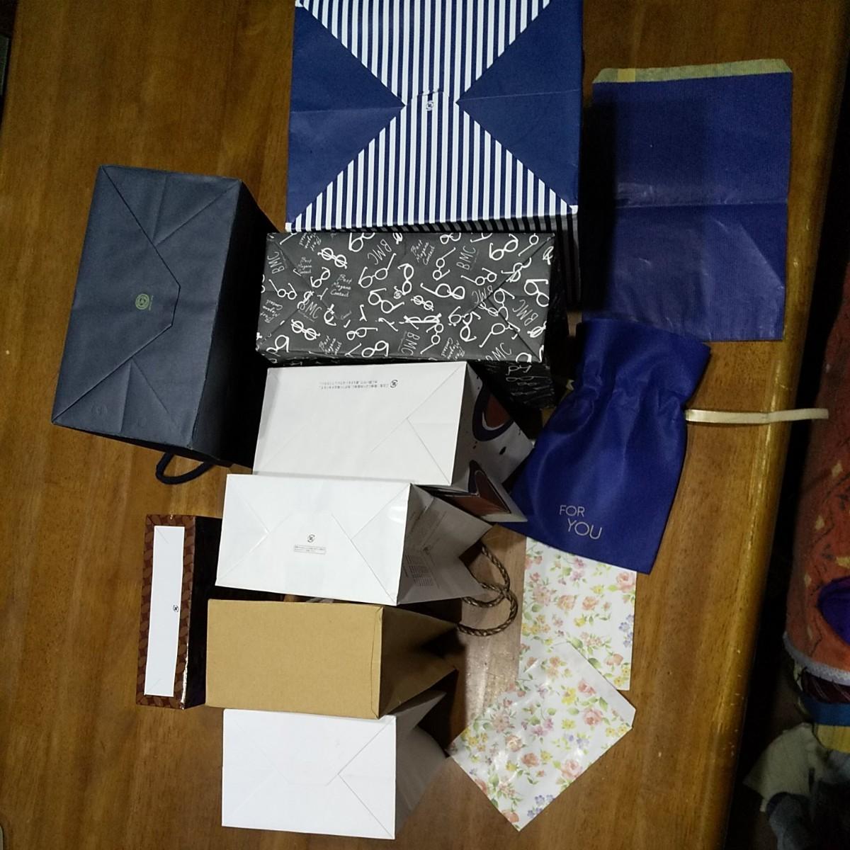 ショップ袋&ラッピング袋 紙袋  12枚セット