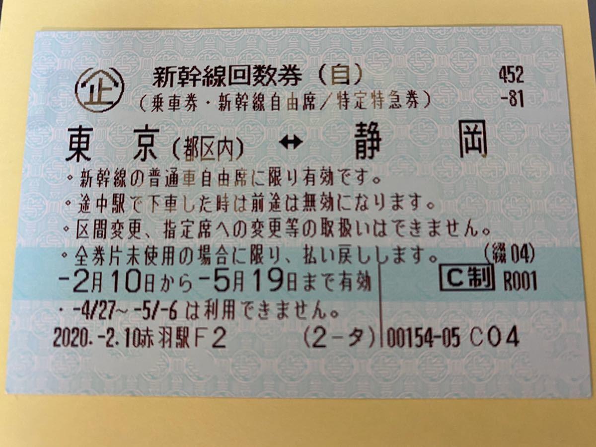 【格安】(即決あり)新幹線回数券(東京都区内-静岡 自由席)_画像1