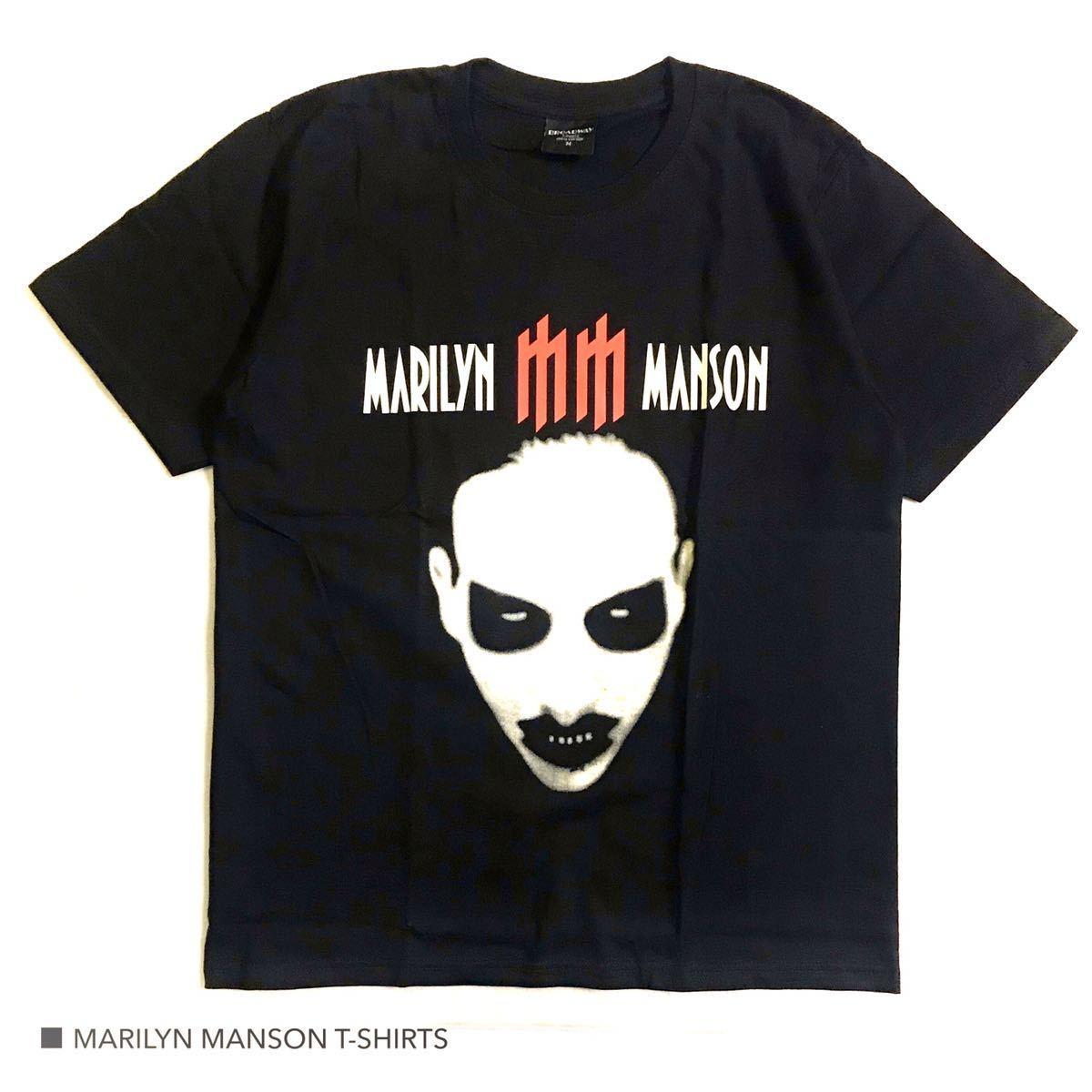 新品 マリリンマンソン バンドT ロック 半袖 Tシャツ Tee BLACK Mサイズ 海外バンド バックプリント