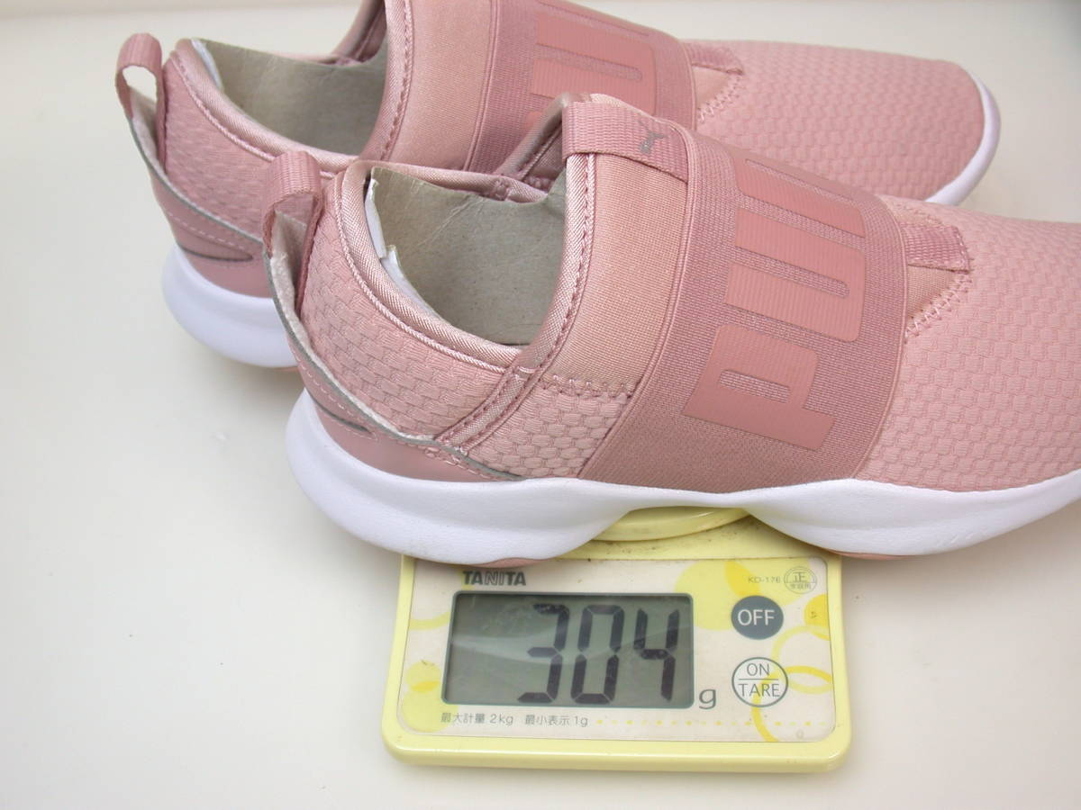 半日使用/PUMA/プーマ/22.5cm ピンクのスニーカー_画像7