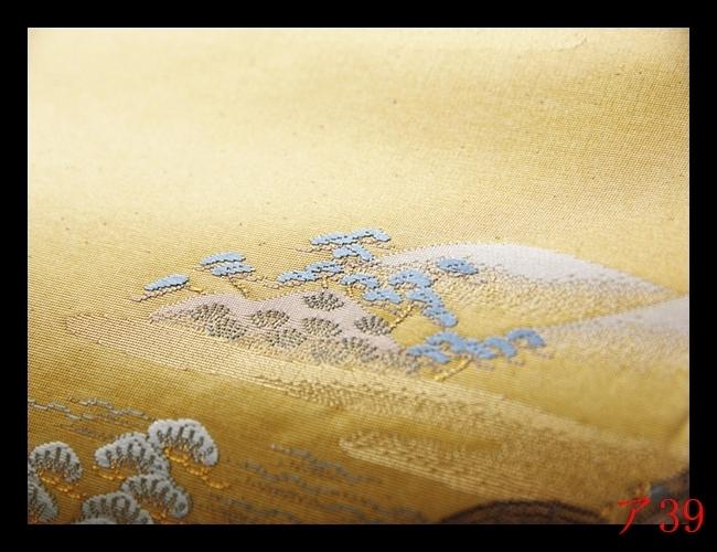 【ア39】◇厳選西陣逸品◇古代九百錦◇古都絵図文◇正絹◇趣味性高い◇六通柄高級美術袋帯◇検★袋帯名古屋帯簪帯締め_画像8