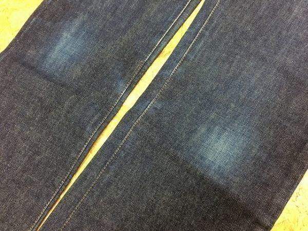 【日本製】 EDWIN 503 エドウィン 30 メンズ デニム パンツ 若干テーパード USED加工 ジップフライ 牛革パッチ ジーンズ 綿100% ブルー_画像5