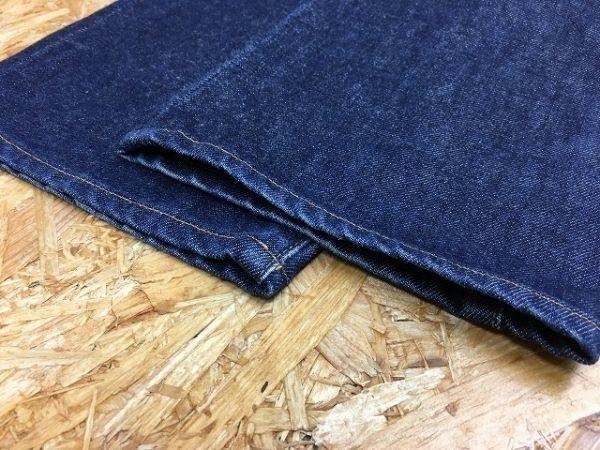 【日本製】 EDWIN 503 エドウィン 30 メンズ デニム パンツ 若干テーパード USED加工 ジップフライ 牛革パッチ ジーンズ 綿100% ブルー_画像4