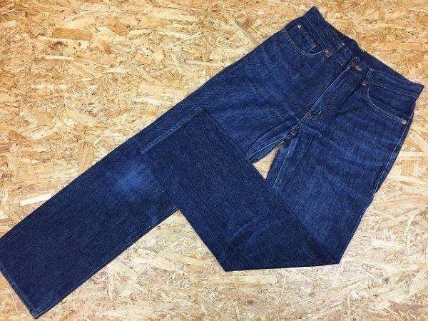 【日本製】 EDWIN 503 エドウィン 30 メンズ デニム パンツ 若干テーパード USED加工 ジップフライ 牛革パッチ ジーンズ 綿100% ブルー_画像1