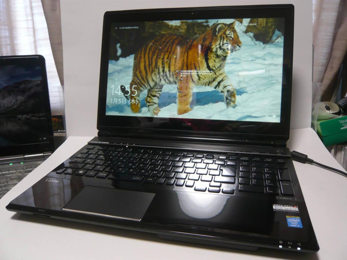 ★極上 高速 NEC Lavie LL850RSB OSWin10 Office2019 CPU i7-4700MQ メモリPC3L12800デュアル8GB 新SSD256GB+HDD1TB タッチパネ マウス他