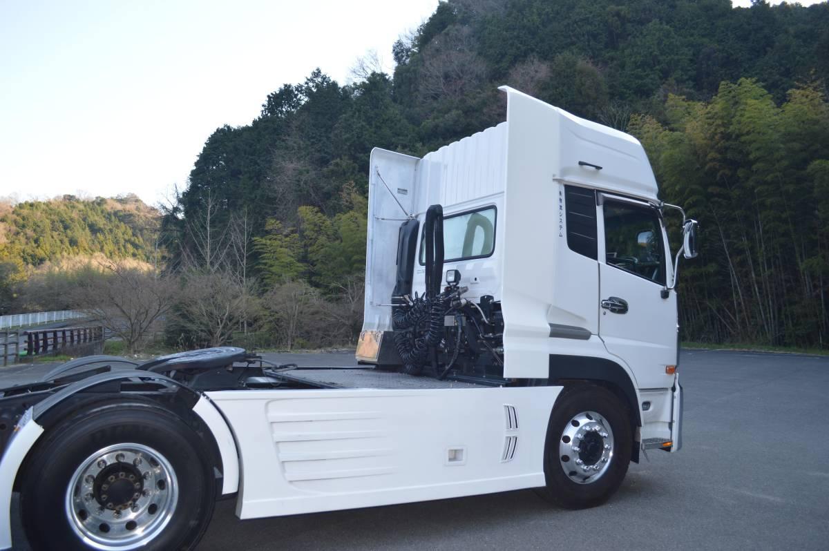 トラックパーツ 架装 UD クオン 新型、旧型 サイド ディフレクター(2P) FRP  ハイルーフ用 取り付金具付き_画像4
