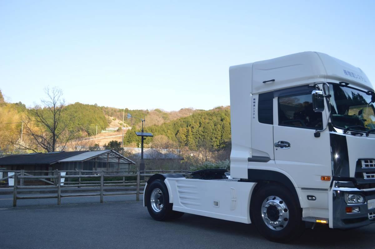 トラックパーツ 架装 UD クオン 新型、旧型 サイド ディフレクター(2P) FRP  ハイルーフ用 取り付金具付き_画像5