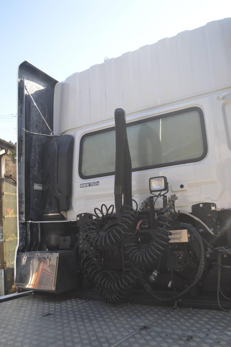 UD クオン トレーラーヘッド トラクター ハイルーフ デフレクター(FRP) 取り付け金具付き_画像7