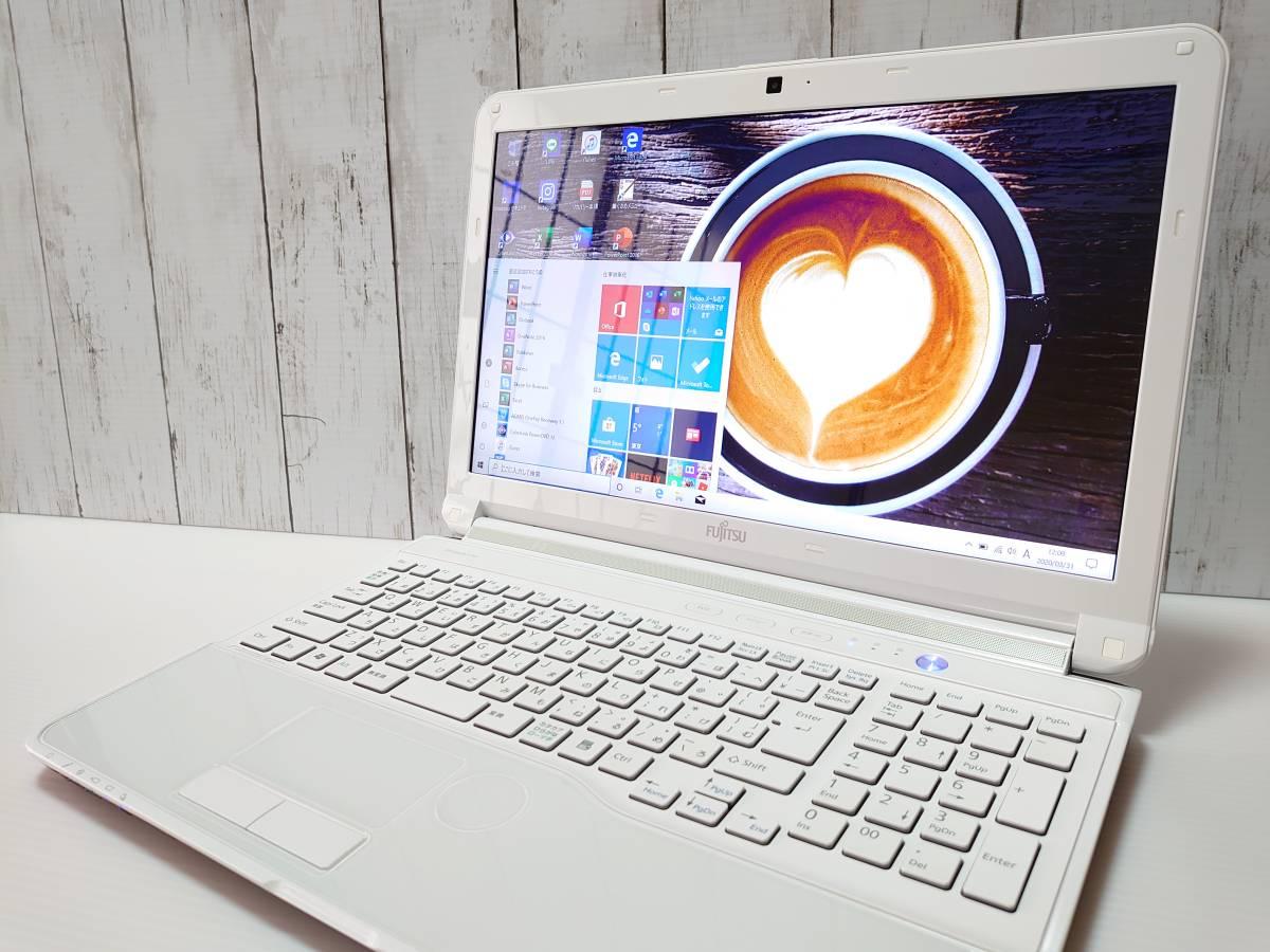【最強i7☆爆速新品SSD512GB】Windows10◇富士通 AH56/G◇Core i7-3.10GHz(ターボ♪)◇メ
