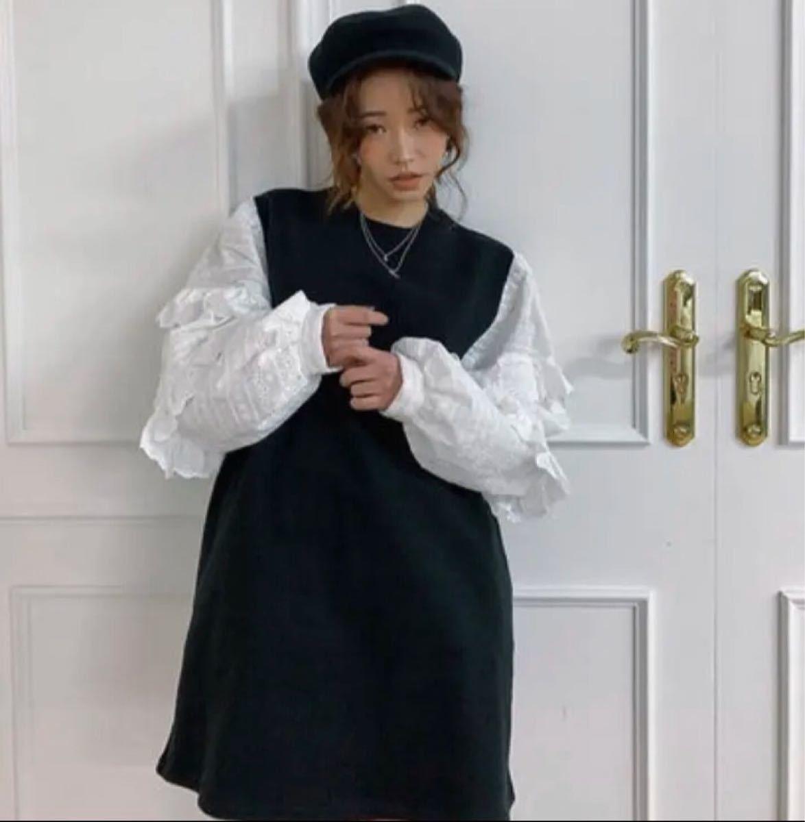 ワンピース ミニ丈ワンピース 韓国ファッション 個性派 カジュアル スウェット