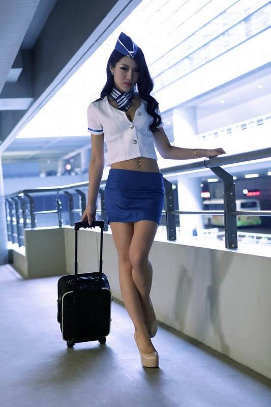【送料無料】憧れのCAコスプレ♪キャビンアテンダント、セクシーコスプレ☆制服、かわいい、パーティー衣装 インスタ映え パーティー
