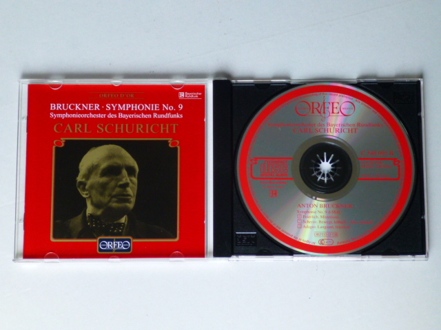 輸入盤CD(MONO) ブルックナー 「交響曲第9番」 シューリヒト/バイエルン 送料180円_左はリブレットです