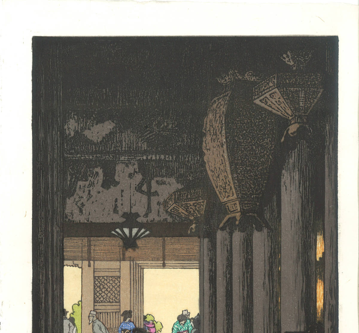 吉田遠志 木版画   清水寺  (Kiyomizu temple)    最高峰の摺師の技をご堪能下さい!!_画像3