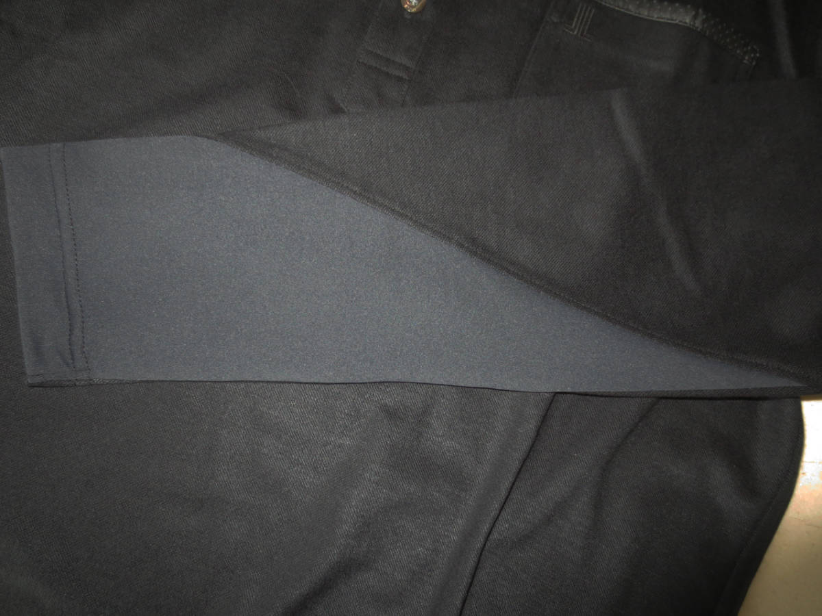 新品 定価2.1万円 ランバン スポール 長袖 ニット ポロ シャツ 黒 L 40 ブラック LANVIN SPORT ジャージー ゴルフウェア 吸水速乾_画像6