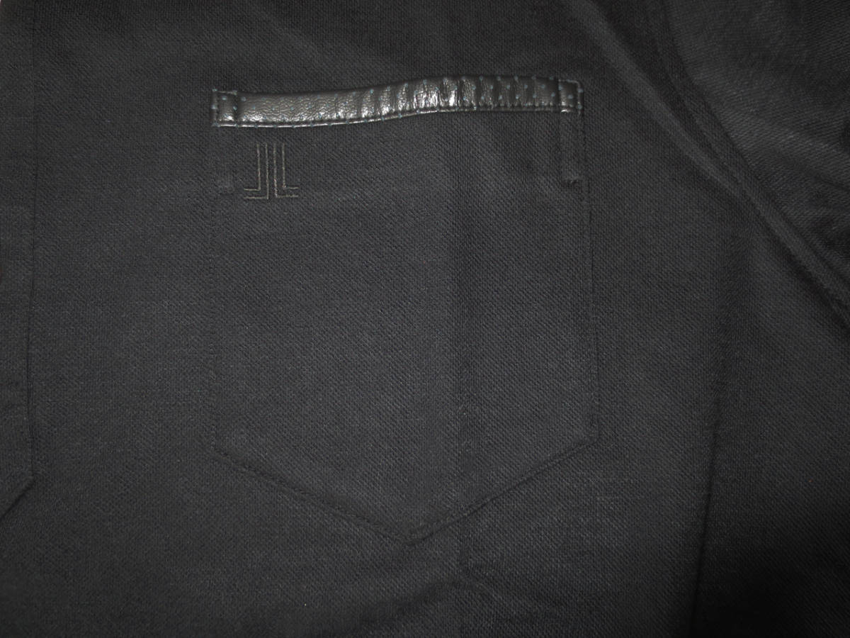 新品 定価2.1万円 ランバン スポール 長袖 ニット ポロ シャツ 黒 L 40 ブラック LANVIN SPORT ジャージー ゴルフウェア 吸水速乾_画像5