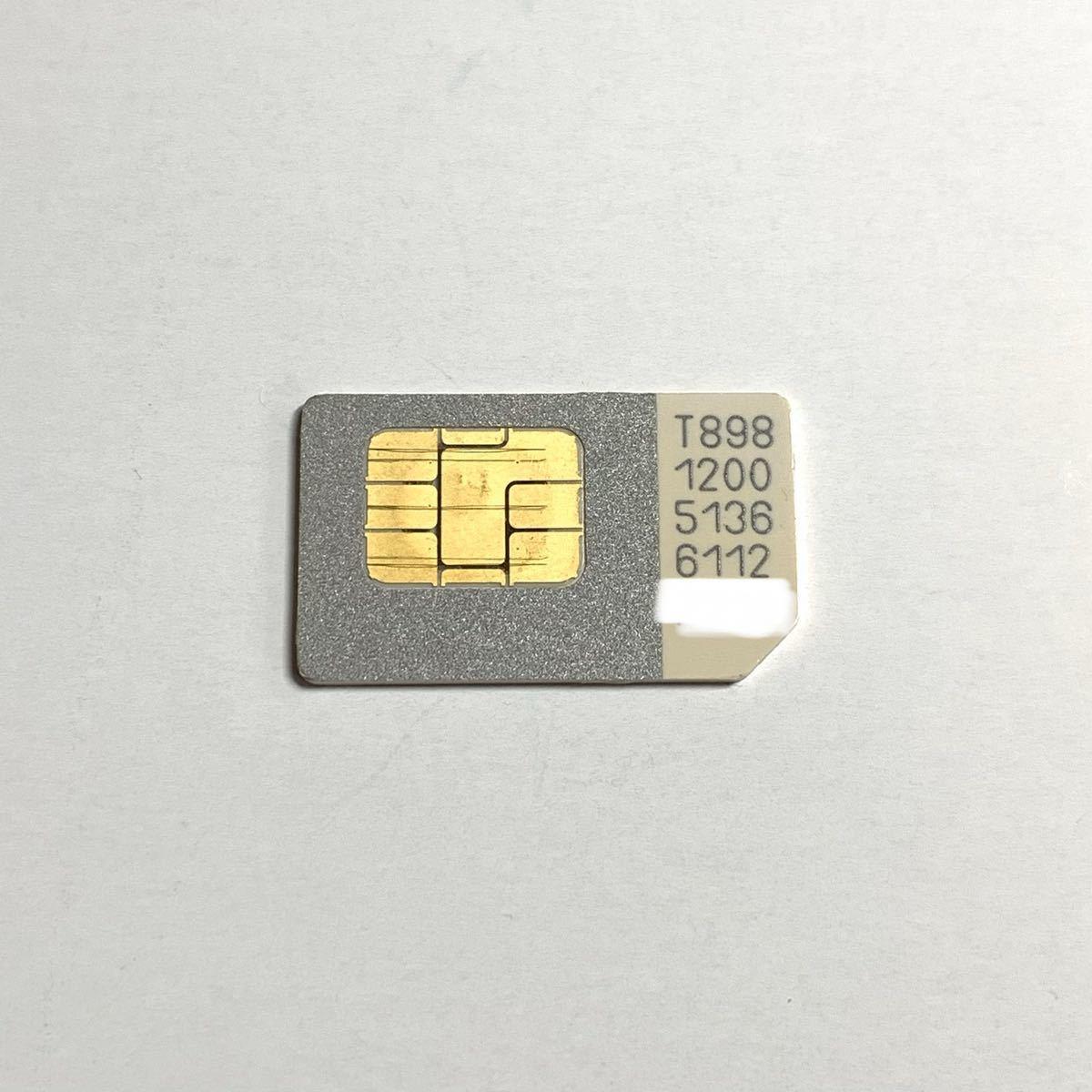 アクティベーション等 解約済SIMカード 標準SIM ソフトバンク T15670_画像1
