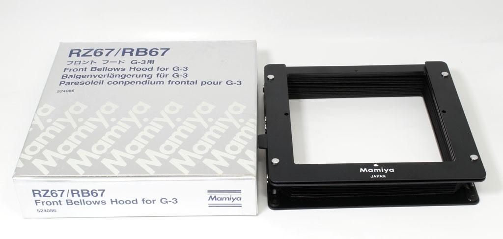 美品 マミヤ  RZ67/RB67用蛇腹レンズフードG-3用フロントフード_画像1