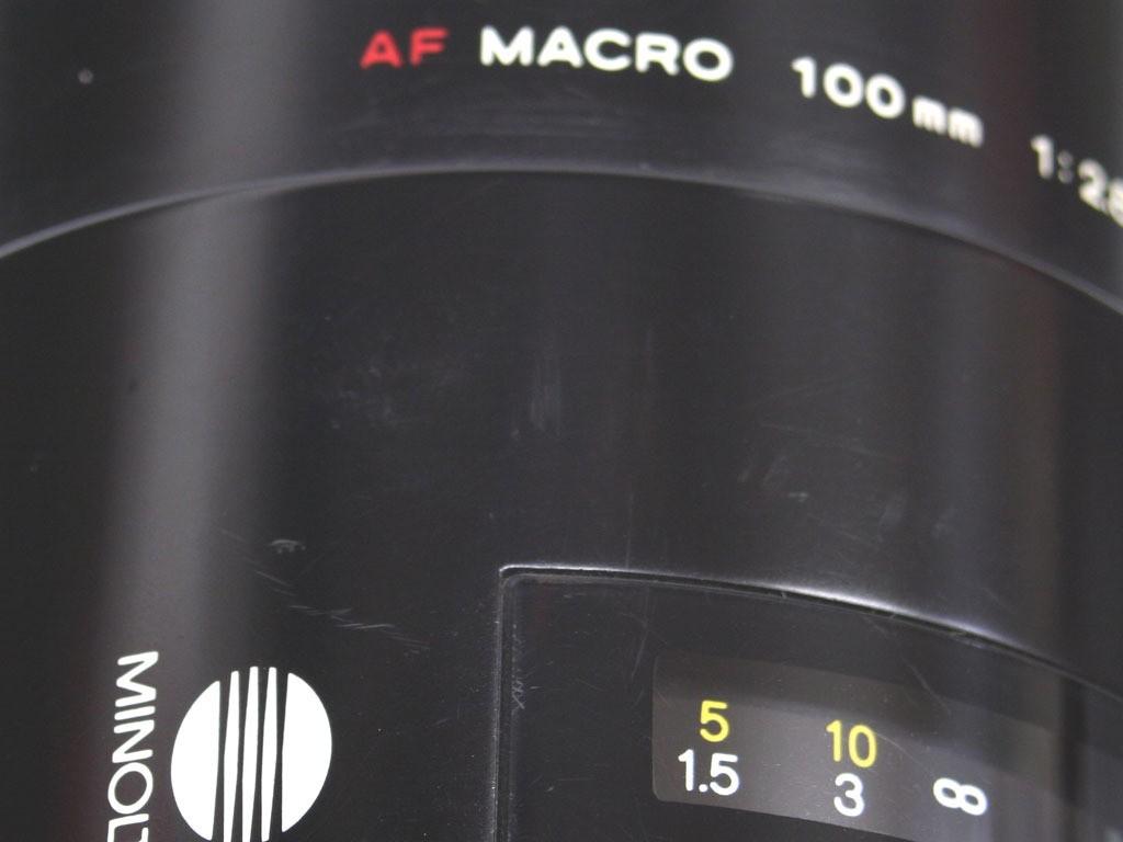 良品 ミノルタ AF100/2.8マクロ(1型) _画像8